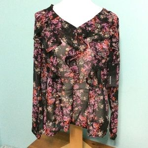 NWT* Relativity small Sheer floral top